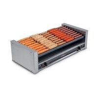 Nemco 8045SXW-SLT-220 Wide Slanted Hot Dog Roller Grill with GripsIt Non-Stick Coating - 45 Hot Dog Capacity (220V)