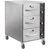 ServIt Mobile Triple Narrow Freestanding Drawer Warmer - 1350W, 120V