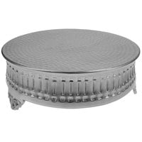 Tabletop Classics by Walco AC9124 22 inch Contemporary Round Nickel-Plated Cake Stand