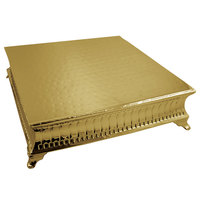 Tabletop Classics by Walco ACG9127 18 inch Contemporary Square Gold-Plated Cake Stand
