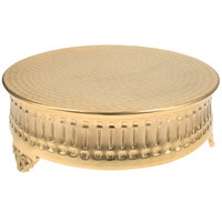 Tabletop Classics by Walco ACG9122 14 inch Contemporary Round Gold-Plated Cake Stand