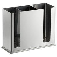Stainless Steel 3-Compartment Chopstick Organizer