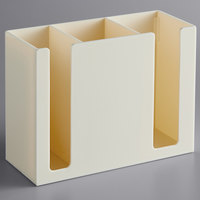 Ivory Plastic 3-Compartment Chopstick Organizer
