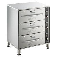 ServIt WDSFS-3 Triple Freestanding Drawer Warmer - 1350W, 120V