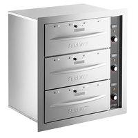 ServIt WDSBI-3K Triple Built-In Drawer Warmer - 1350W, 120V
