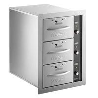 ServIt WDNBI-3K Triple Narrow Built-In Drawer Warmer - 1350W, 120V