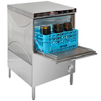CMA Dishmachines 1665.76 180UC High Temperature Undercounter Dishwasher with Dispenser and 9-Compartment Bottle Washer Rack