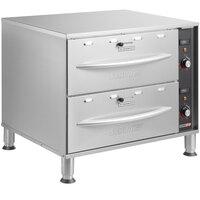 ServIt WDSFS-2 Double Freestanding Drawer Warmer - 900W, 120V
