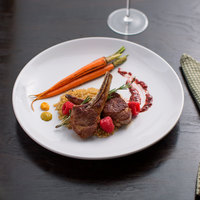 Acopa 11 1/4 inch Round Bright White Coupe Stoneware Plate - 4/Pack