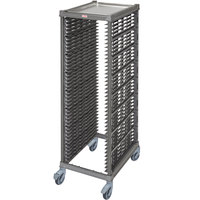 Cambro UPR1826FP40 Camshelving® Ultimate 40 Pan End Load Bun / Sheet Pan Rack with Plastic Casters - Unassembled