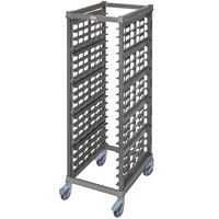 Cambro UPR1826FPA20 Camshelving® Ultimate 20 Pan End Load Bun / Sheet Pan Rack with Plastic Casters - Assembled