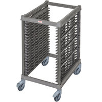 Cambro UPR1826HP20 Camshelving® Ultimate 20 Pan Half Size End Load Bun / Sheet Pan Rack with Plastic Casters - Unassembled