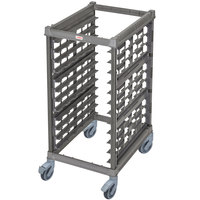 Cambro UPR1826HP12 Camshelving® Ultimate 12 Pan Half Size End Load Bun / Sheet Pan Rack with Plastic Casters - Unassembled