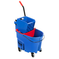 Rubbermaid WaveBrake® 35 Qt. Blue Mop Bucket with Side Press Wringer and Red Dirty Water Bucket