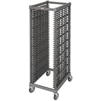 Cambro UPR1826F40 Camshelving® Ultimate 40 Pan End Load Bun / Sheet Pan Rack with Metal Casters - Unassembled