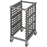 Cambro UPR1826H12 Camshelving® Ultimate 12 Pan Half Size End Load Bun / Sheet Pan Rack with Metal Casters - Unassembled