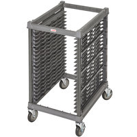 Cambro UPR1826H20 Camshelving® Ultimate 20 Pan Half Size End Load Bun / Sheet Pan Rack with Metal Casters - Unassembled