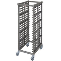Cambro UPR1826FP20 Camshelving® Ultimate 20 Pan End Load Bun / Sheet Pan Rack with Plastic Casters - Unassembled