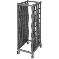 Cambro UPR1826FA40 Camshelving® Ultimate 40 Pan End Load Bun / Sheet Pan Rack with Metal Casters - Assembled