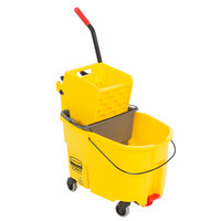 Rubbermaid WaveBrake® 44 Qt. Yellow Mop Bucket with Side Press Wringer and Gray Dirty Water Bucket