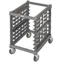 Cambro UPR1826U8 Camshelving® Ultimate 8 Pan Undercounter End Load Bun / Sheet Pan Rack with Metal Casters - Unassembled