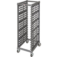 Cambro UPR1826FA20 Camshelving® Ultimate 20 Pan End Load Bun / Sheet Pan Rack with Metal Casters - Assembled