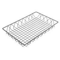 Delfin WBK-1812-PC62 Simply Steel 18 inch x 12 inch x 2 inch Steel Wire Bakery Basket