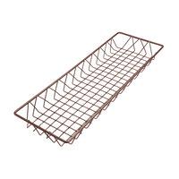 Delfin WBK-248-PC65 Simply Steel 24 inch x 8 inch x 2 inch Rust Wire Bakery Basket