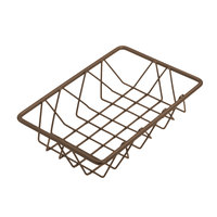 Delfin WBK-96-PC65 Simply Steel 9 inch x 6 inch x 2 inch Rust Wire Bakery Basket
