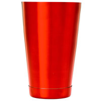 Barfly M37083RD 18 oz. Red Half Size Shaker Tin
