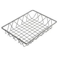 Delfin WBK-129-PC62 Simply Steel 12 inch x 9 inch x 2 inch Steel Wire Bakery Basket