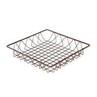 Delfin WBK-12-PC65 Simply Steel 12 inch x 12 inch x 2 inch Rust Wire Bakery Basket