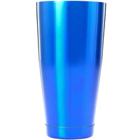 Barfly M37084BL 28 oz. Blue Full Size Cocktail Shaker Tin