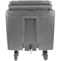 Cambro ICS125L191 SlidingLid Granite Gray Portable Ice Bin - 125 lb. Capacity