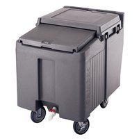 Cambro ICS125L191 Granite Gray Sliding Lid Portable Ice Bin - 125 lb. Capacity