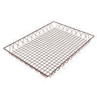 Delfin WBK-2418-PC65 Simply Steel 24 inch x 18 inch x 2 inch Rust Wire Bakery Basket