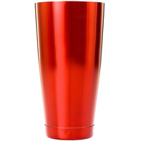 Barfly M37084RD 28 oz. Red Full Size Cocktail Shaker Tin
