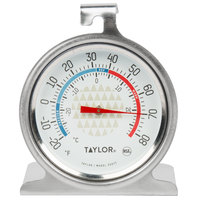 Taylor 3507 2 1/2 inch Dial Refrigerator / Freezer Thermometer