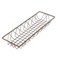 Delfin WBK-186-PC65 Simply Steel 18 inch x 6 inch x 2 inch Rust Wire Bakery Basket