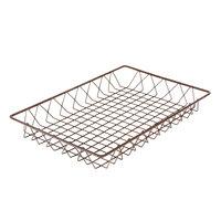 Delfin WBK-1812-PC65 Simply Steel 18 inch x 12 inch x 2 inch Rust Wire Bakery Basket