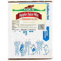Fox's 3 Gallon Bag In Box Apple Juice Syrup
