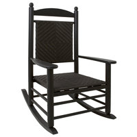 POLYWOOD K147FBLCA Cahaba Jefferson Woven Rocking Chair with Black Frame