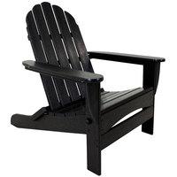 POLYWOOD AD7030BL Black Classic Oversized Curveback Adirondack Folding Chair