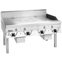Garland CG-72R-01 72 inch Master Series Natural Gas Production Griddle with Thermostatic Controls - 180,000 BTU