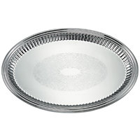 Vollrath 82171 Esquire 15 inch x 11 inch Oval Fluted Stainless Steel Tray