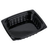 Dart B8DE ClearPac 8 oz. Black Rectangular Plastic Container   - 252/Case
