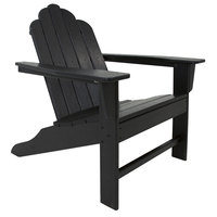 POLYWOOD ECA15BL Black Long Island Adirondack Chair