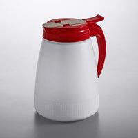 Vollrath 4748-02 Dripcut® 48 oz. Polyethylene Server with Red Top