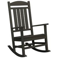 POLYWOOD R100BL Black Presidential Rocking Chair