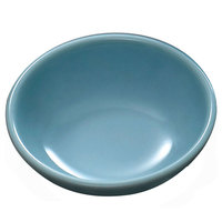 Thunder Group 3960 Blue Jade 12 oz. Round Melamine Bowl, 6 inch - 12/Case